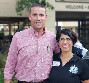 Nuestra Comunidad founder, Alma Bowen, with a senator