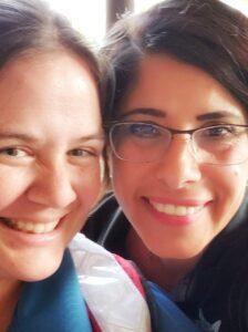 Nuestra Comunidad founder, Alma Bowen, with a woman