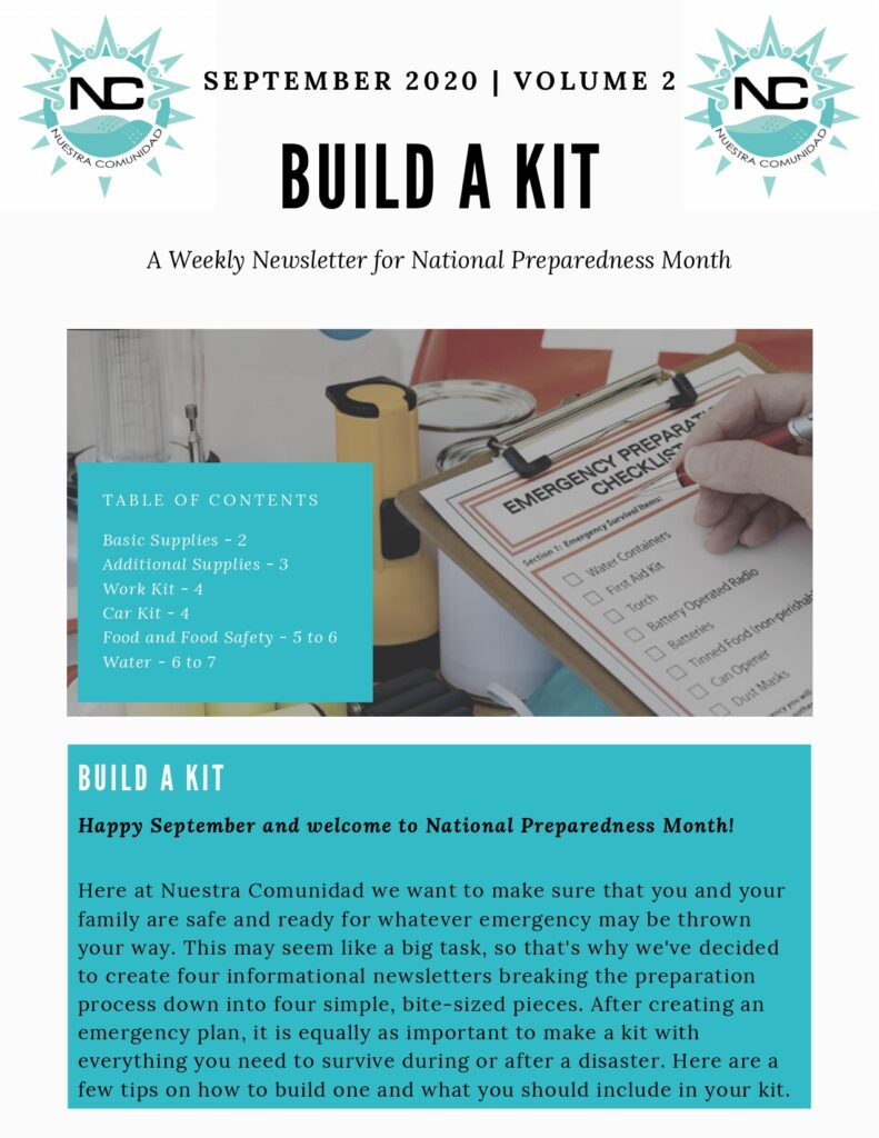 An infographic on how to build a kit