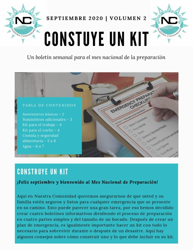 A Spanish infographic on how to build a kit